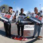 Women's Skateboarding podium at the Street Lines Skate Tournament