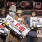 Men's Skateboarding podium at the Street Lines Skate Tournament