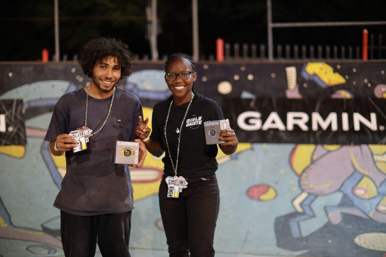 Street Lines Skate Tournament winners Ethan Cairns and Boipelo Awuah