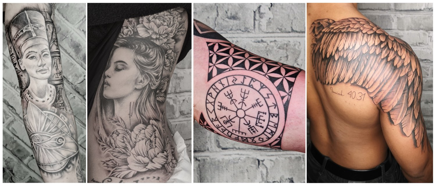 Tattoos work done by Tory Sutherland-Dadds